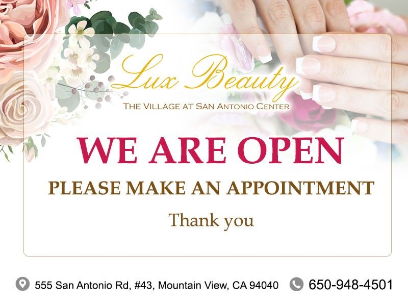 Lux Beauty Nail Salon 94040 Mountain View Ca